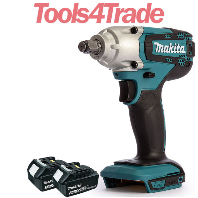 """Makita DTW190Z 18V LXT Cordless 1/2"""" Impact Wrench With 2 x 3Ah BL1830 Batteries"""