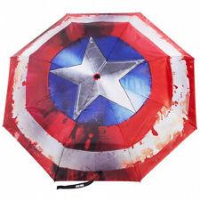 NEW OFFICIAL Captain America Marvel Avengers Classic Logo Symbol Umbrella Brolly