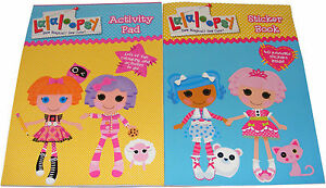ninos-infantil-girls-Lalaloopsy-Libro-Para-Colorear-Actividad-Pad-amp-de-pegatinas