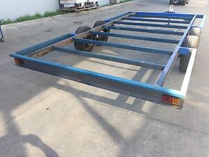 Brand new trailer chassis tandem axle 16x8 diy caravan car for Enclosed bed frame
