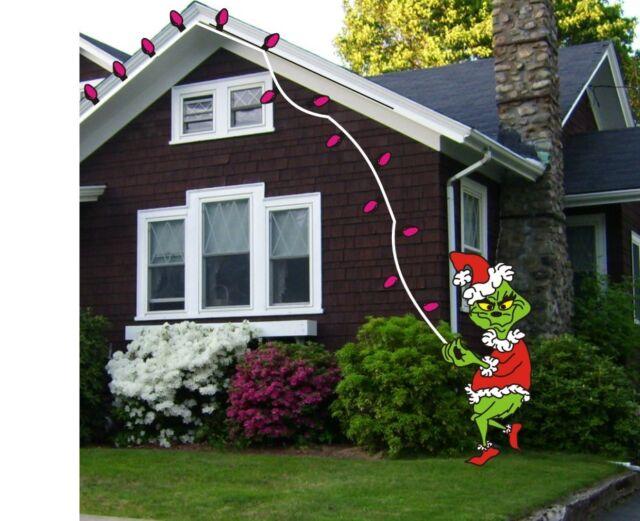 Grinch Stealing Christmas Lights Template.Grinch Stealing Lights Christmas Woodworking Pattern Plan Craft 6 Ft High