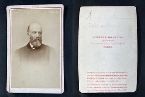 Pierson et Braun, Paris, François Orléans, prince de France Vintage cdv albumen