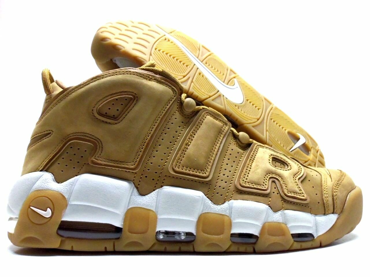 NIKE AIR MORE UPTEMPO '96 PRM WHEAT FLAX/FLAX-PHANTOM SIZE MEN'S 9 Price reduction The most popular shoes for men and women