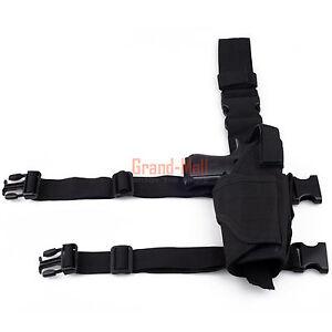 New-Tactical-Military-Pistol-Gun-Drop-Leg-Thigh-Holster-Right-Hand-Black