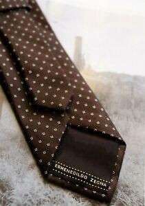 Ermenegildo-Zegna-Brown-Silk-Mens-Tie