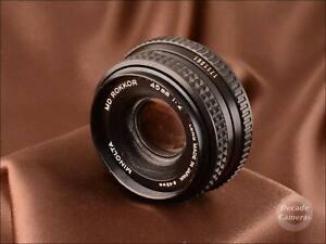Minolta MD Rokkor 45mm f2 Pancake Standard Prime Lens - 1353