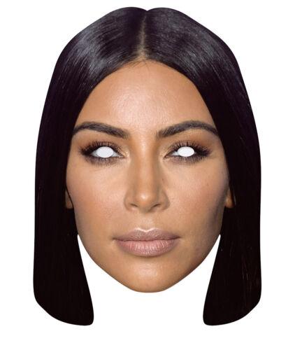 Kim Kardashian 2D Célébrité Carte Unique Fête Masque-Télé Réalité K West
