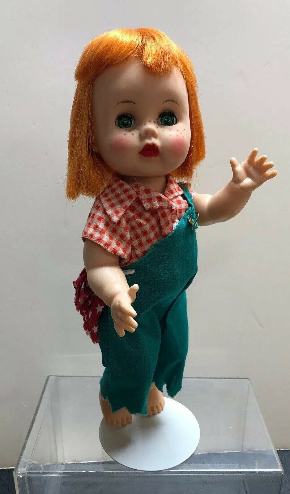 "10.5"" Vintage R&B Arranbee Littlest Angel Bent Knee Walker Doll ""Imp"" rothead S"