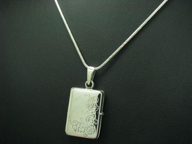 925 STERLING silver KETTE & ANHÄNGER   ECHTsilver   48,7cm   16,6g