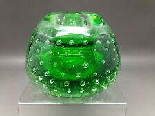 Small Vintage Green Coloured Candle Holder - Eneryda, Sweden (No Label)