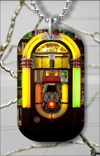 jukebox DOG TAG NECKLACE PENDANT FREE CHAIN j47l