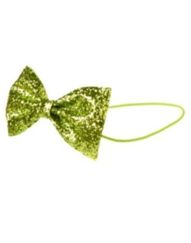 GYMBOREE COLOR HAPPY LIME GLITTER BOW ELASTIC HEADBAND NWT-OT