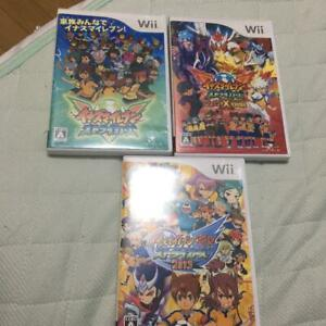 Inazuma Eleven Strikers Set Of 3 Nintendo Wii Level5 Used Japan Boxed Tested Ebay