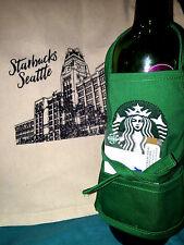 Starbucks Gift Set- Natural Cotton Tote and Mini Green Apron Gift Card Holder