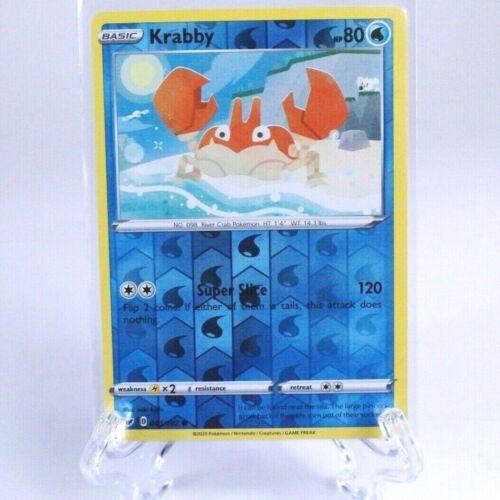 Krabby 43//202 Reverse Holo Foil Pokemon S/&S Sword /& Shield TCG