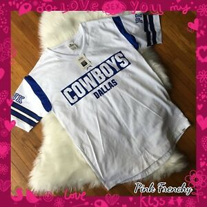 watch 7ed5c 76201 Details about VICTORIA'S SECRET PINK Dallas Cowboys NFL Football Collection  Varsity Crew Med