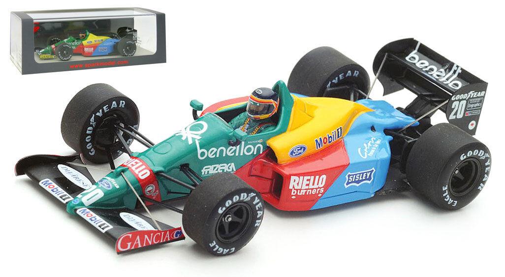 SPARK S5202 BENETTON B188  20 3rd Canadian GP 1988-Thierry Boutsen échelle 1 43