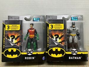 """ROBIN with 3 mystery accessories by Spin Master DC Comics 4/"""" Action Figure"""
