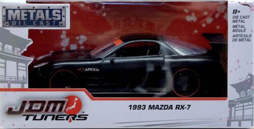 1993 Mazda rx-7 JDM sintonizador negro Black 1:32 jada Toys 98787