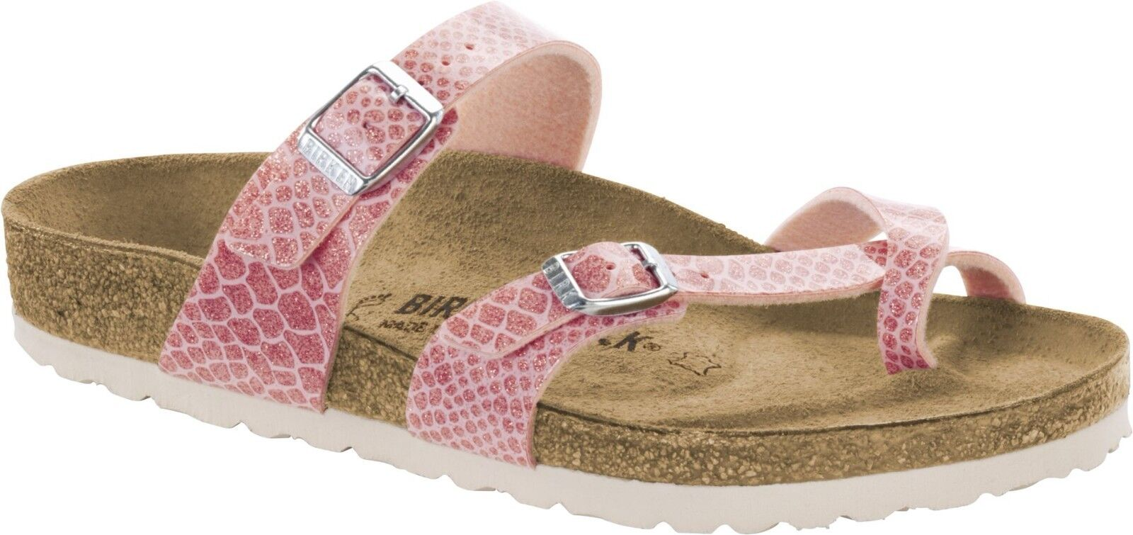 Birkenstock Mayari Magic Snake Rose Zehensteg Größe 36-42 Fußbett normal