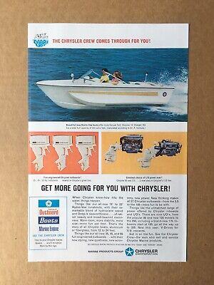 Chrysler Crew Marine Outboard Engine Boat Matchbook NOS