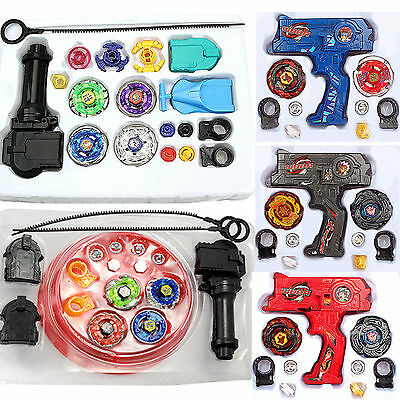 Fusion Top Metal Masters Rapidity Fight Rare Beyblade 4D Launcher Set for Kids