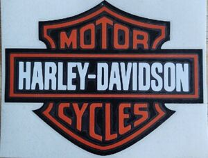 "Harley Davidson logo Vinyl window Decal 6"", 7"", 8"", 9"", 10"", 11"", 12"""