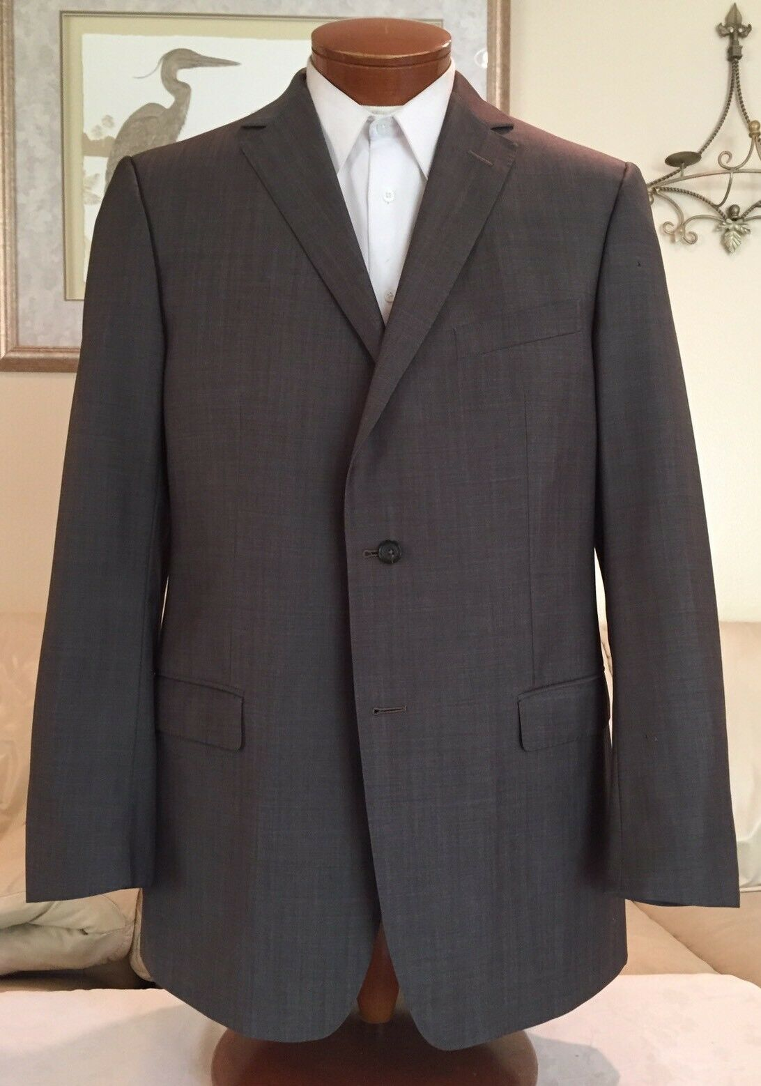 Z Zegna City Mens Brown 2 Btn Dual Vent Suit Sz 44L