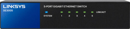 Black//Blue Linksys 5-Port Gigabit Ethernet Switch