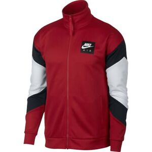 5db28e0d25 AJ5321-687 Nike Air Fleece Zip Up Jacket Red White Black M-4XL