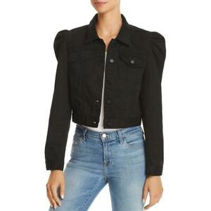 Blank-NYC-Womens-Black-Spring-Distressed-Cropped-Jacket-Outerwear-XS-BHFO-5092