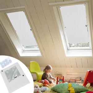 Dachfensterrollo Dunkelgrau Thermo Verdunkelung mit Sauger 98/%UV-Schutz Weiß