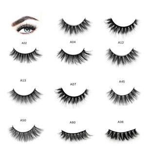 1560732b1e1 3 Pairs Fake Natural False Eyelashes Long Eyelashes Makeup 3D Mink ...