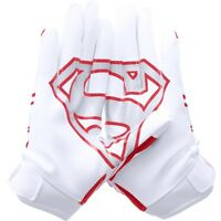 Under Armour F5 Alter Ego Football Gloves  Superman  Mens X Large Red White  NEW
