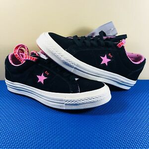 Hello Kitty x Converse One Star Low OX Black Pink Suede Women s Size ... 70fcf6c93