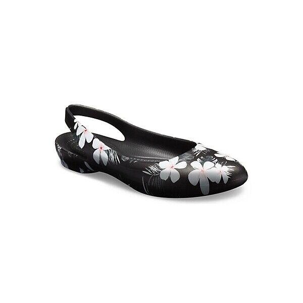 Crocs 205638 EVE SEASONAL SLINGBACK Ladies Womens shoes Tropical Floral Black