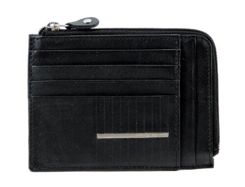 Porta carte di credito Uomo SERGIO TACCHINI in Pelle Nero Rigido ELEGANTE