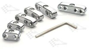 Chrome Pro Style Ignition Lead Wire Separators Fits