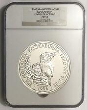 1996 Australia 1 Kilo Silver Kookaburra Proof PF69 Beauty! 558/1000 Free Ship!