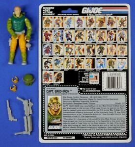 GI-JOE-CAPTAIN-GRID-IRON-FIGURE-1990-COMPLETE-WITH-BACKER