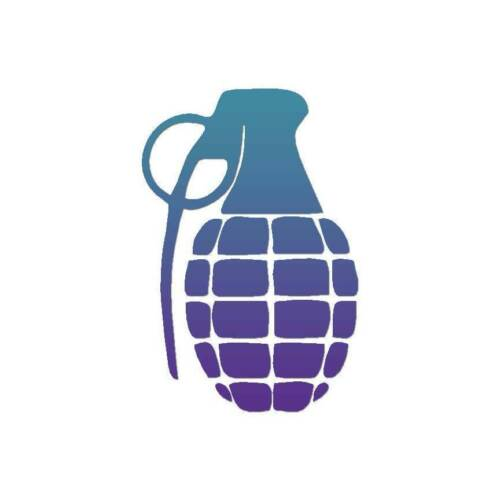Military Grenade Vinyl Decal Sticker ebn3364 Multiple Patterns /& Sizes