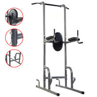 Gym Dip Station Chin Up Tower Rack Pull Up Weight Stand Bar Raise Workout