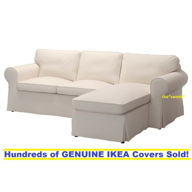 Wondrous Ikea Ektorp 3 Seat Sectional Sofa Loveseat Chaise Slipcover Cover Lofallet Beige Andrewgaddart Wooden Chair Designs For Living Room Andrewgaddartcom