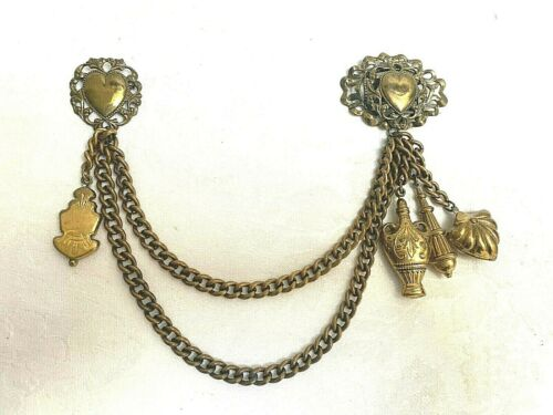 Beautiful Antique Vintage Sweater Guard with Charm