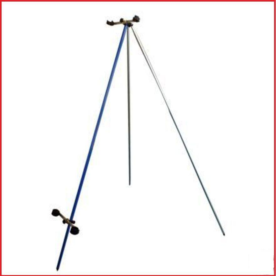 6ft 2 Fishing Rod Beachcaster Tripod Beachcasting Rest Beach Stand New