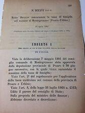 Regio Decreto 23 aprile 1882 Tassa di famiglia comune di Montegrimano - 643