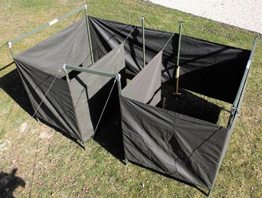 Army Military Field Hygiene and Sanitation Latrine Dusche Oliv Drab tent Zelt