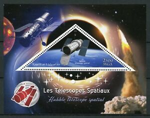 Madagaskar 2018 MNH Space Telescopes Hubble Telescope 1v S/S ich Briefmarken