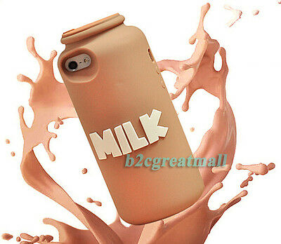 3D Cute Lovely Milk bottle Cup Soft Silicone Back Cover Case F Iphone 5 5S 5G