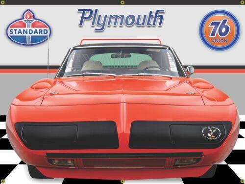 1970 PLYMOUTH ROAD RUNNER SUPERBIRD TOR-RED GARAGE BANNER SIGN MURAL ART 4/' X 3/'
